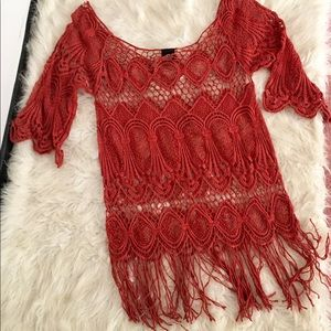 Bobeau Crochet Fringe Cover Up